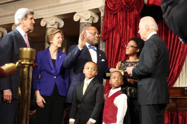 Image: William Cowan is sworn in as Massachusett's new senator.