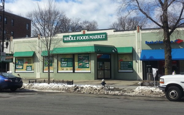 The new Beacon Street location for Whole Foods takes the place of Johnnie's Fresh Market and is expected to attract more customers to the neighborhood's various businesses. (Photo by Angelo Verzoni)