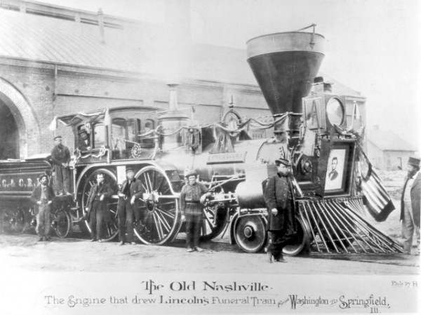 Lincoln's Funeral Train. Photo from Wikimedia Commons.