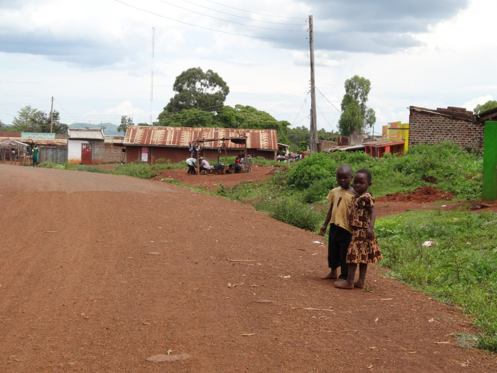 Children in the Ting Wangi district in Western Kenya