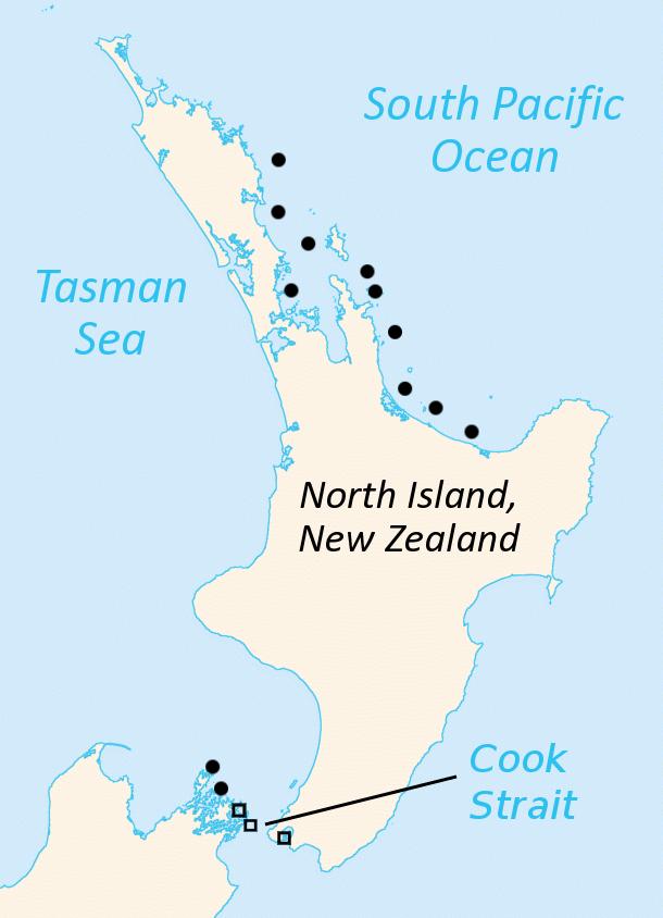 tuatara map