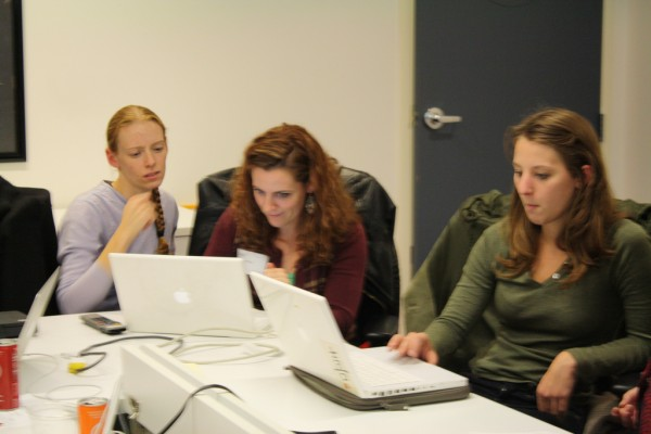Nicole Noll, left, at a Web Start Women class. Photo courtesy of Littlest Finch on Flickr Creative Commons