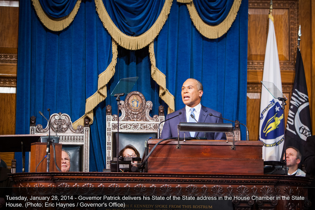 Governor Patrick delivers his State of the Commonwealth address. (Photo by Eric Haynes/Governor's Office)