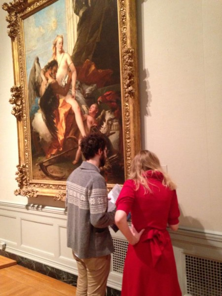 Naked scavenger hunt at the MFA. (Stephanie Simon/BUNS)