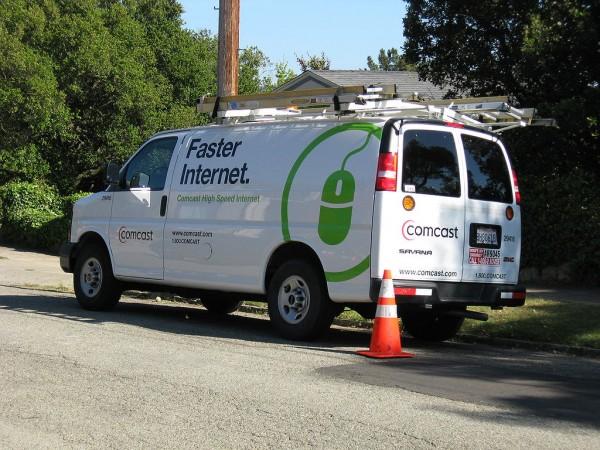 A Comcast Internet truck, 2008. (Flickr/Dave Winer)