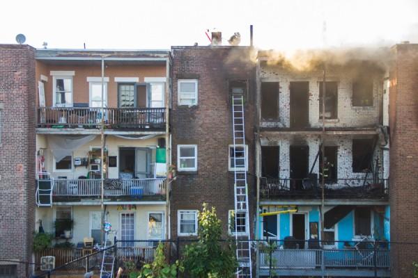 Allston fire on September 4, 2014. (Jun Tsuboike/BU News)