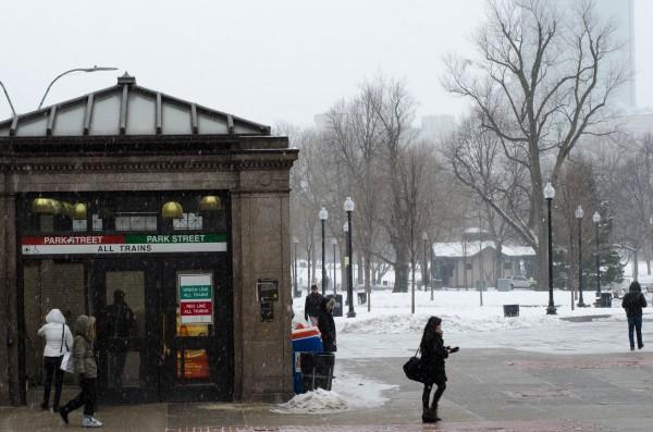 MBTA service is suspended on Tuesday Jan 27. Photo by Nikita Sampath/BUNS
