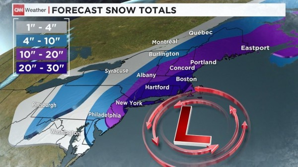 'Historic' storm prepares to slam Northeast; airlines cancel flights