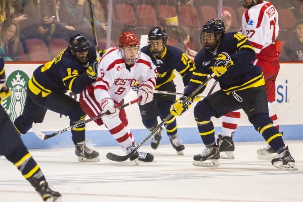 BU-Merrimack Ice Hockey East Quarterfinal 1