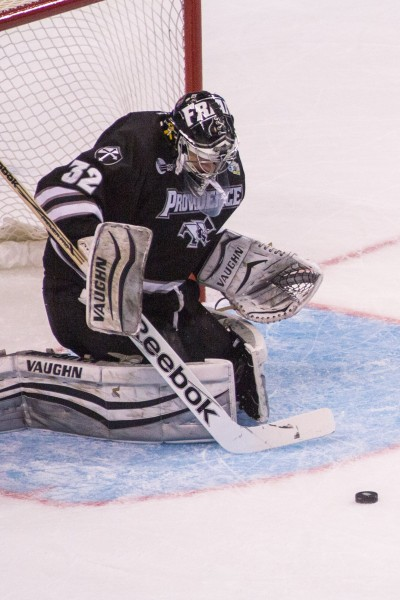 Providence goaltender Jon Gillies was named most outstanding player of the Frozen Four