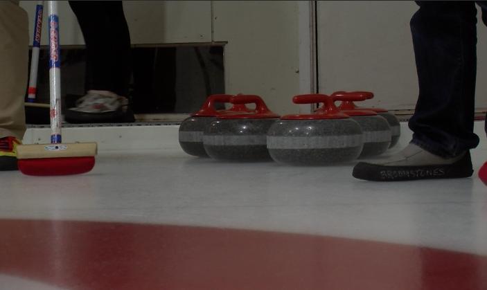 Curling rocks at Broomstones Curling Club